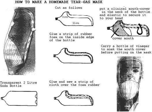 homemade tear gas mask